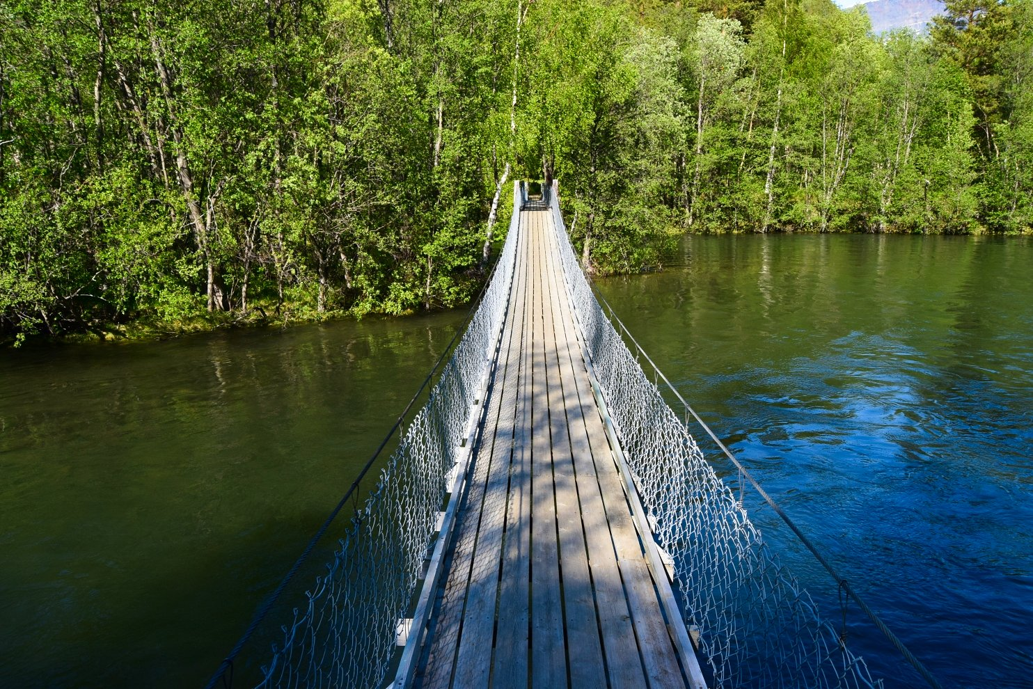 Bridge across Junkerdalselva River