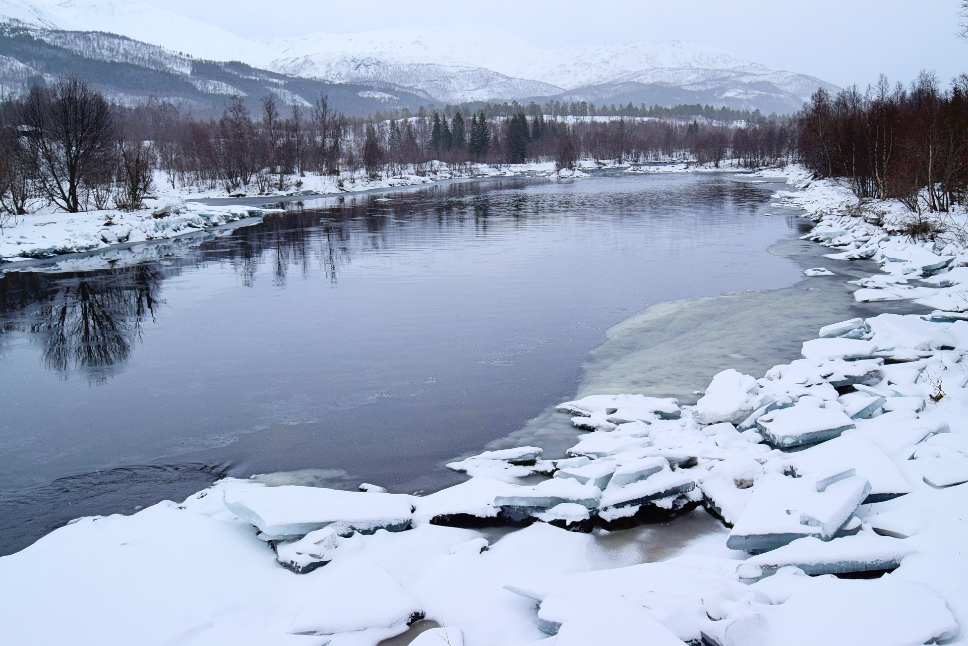 Lakselv River in Fauske municipality