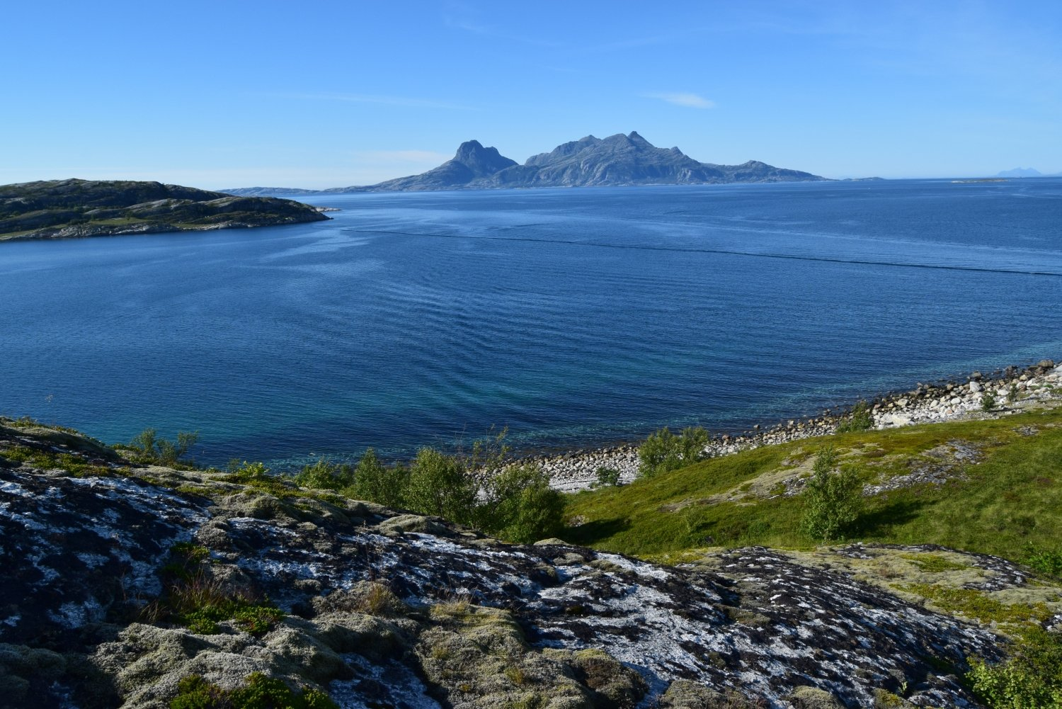 Landegode island seen from Hjertøya