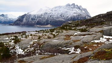 Mjelle mountains in Bodø during winter